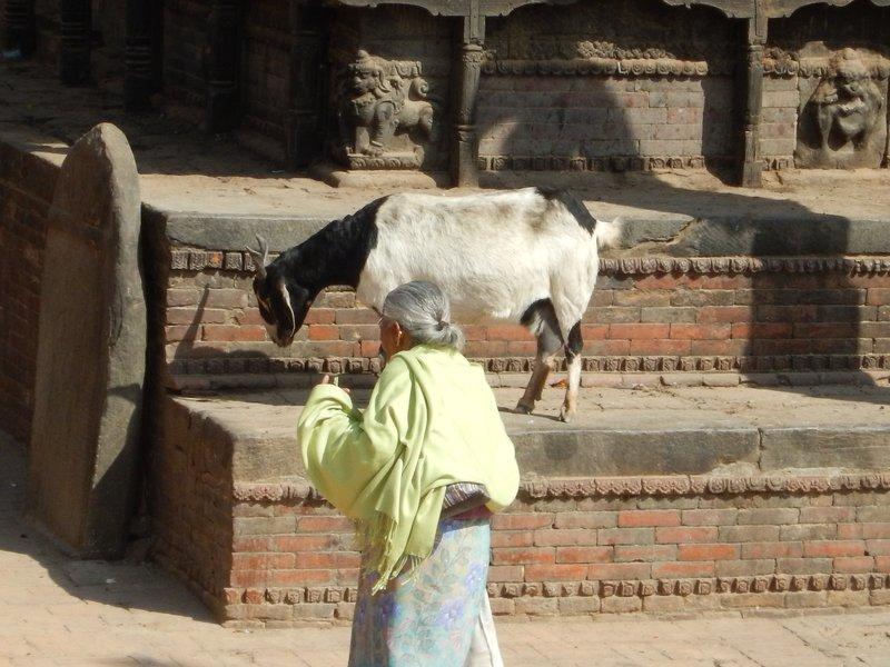 By the Dattatraya Temple in Bhaktapur