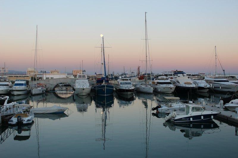 Limassol Harbour at sunset