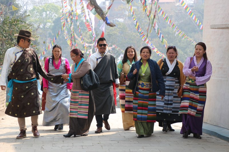 Dressed up for Losar - the Tibetan New Year