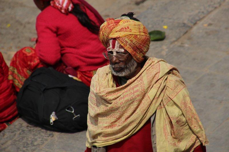 Holy man at Pashupatinath