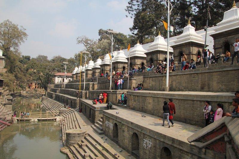 The ghats at Pashupatinath