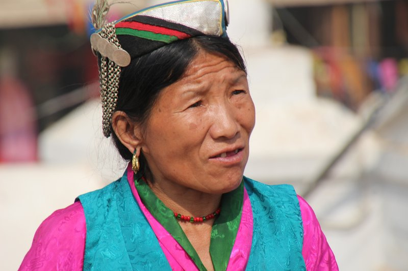 Local In Tibetan Traditional Dress