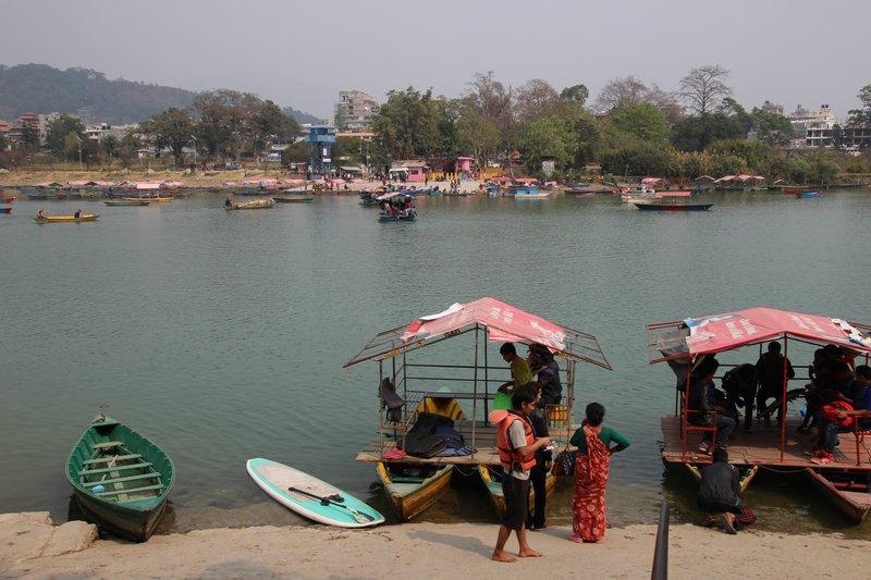 Ferrying passengers to Tal Barahi Temple on Phewa Lake