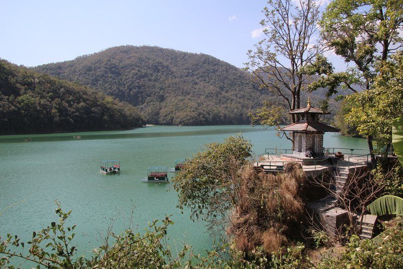 Small temple by the lake