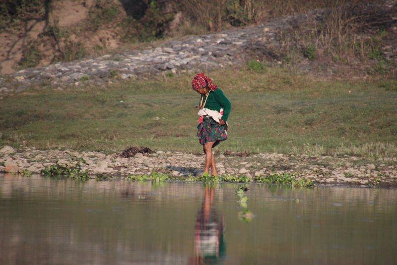 Paddling in the Rapti River