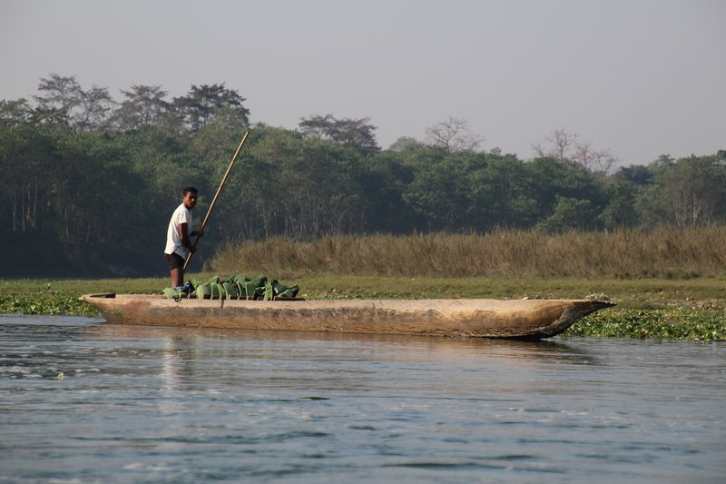 Boatman on the Rapti River