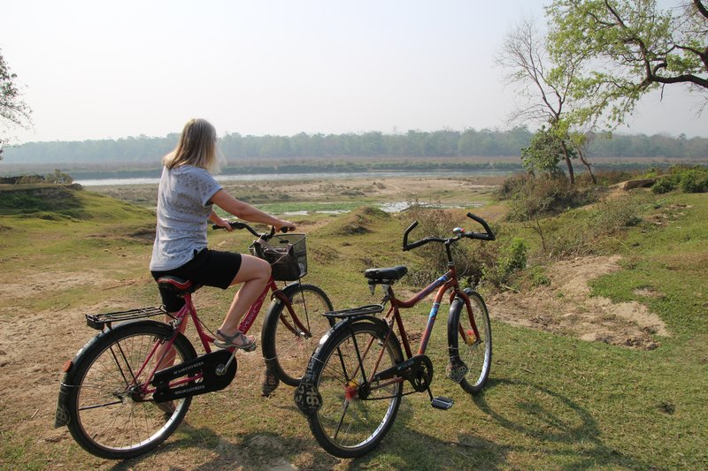 Cycling round Sauraha