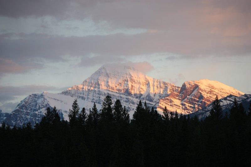 Jasper Sunset Over The Mountains