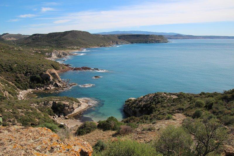 Looking down the coast towards Bosa