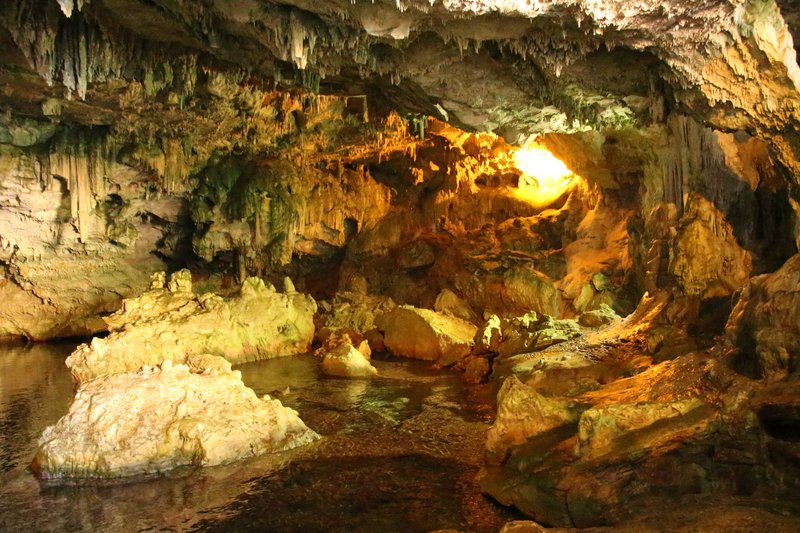 Inside the Grotta di Nettuno