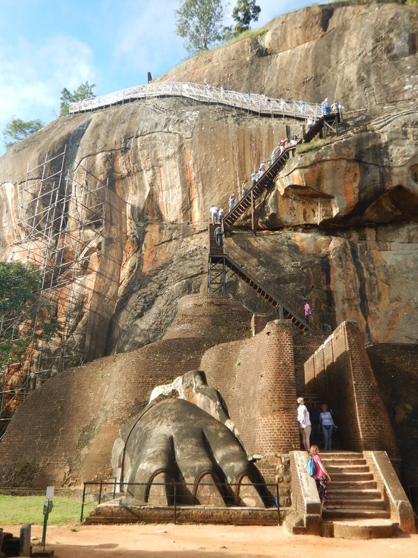 The steps to the top of Sigiriya