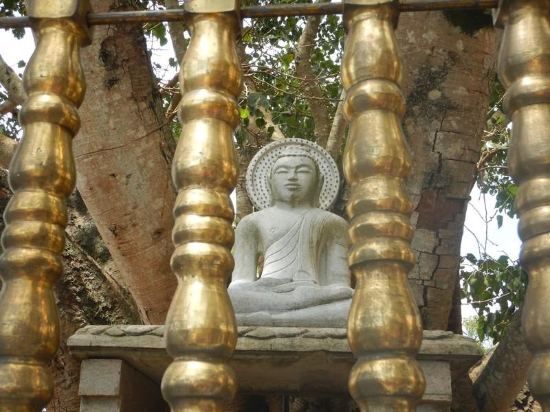 Small Statue at the Sri Mahabodhimaha Viharaya
