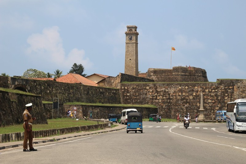 Looking towards Galle Fort