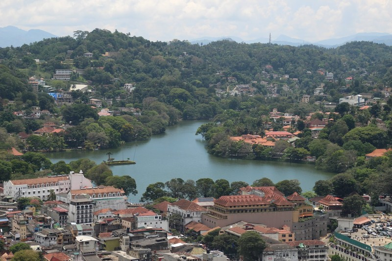 Looking over Kandy Lake