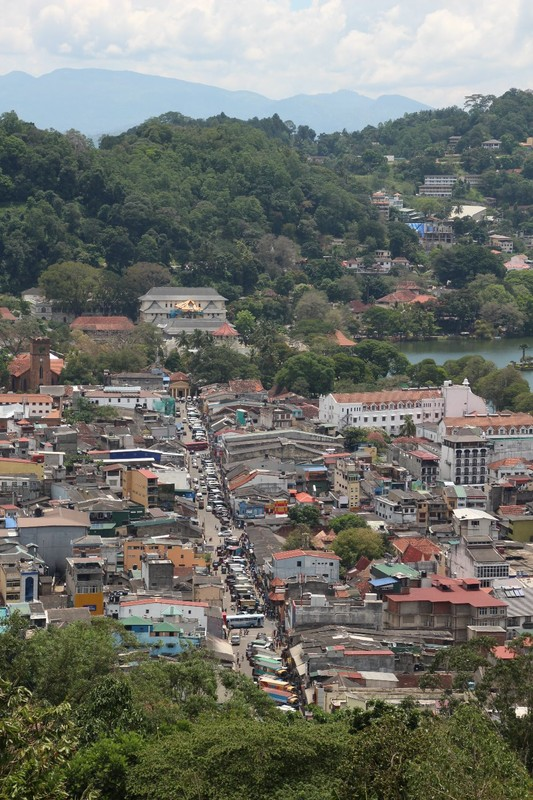 Overlooking Kandy towards the Tooth Temple