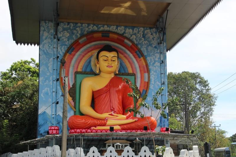Colourful Buddha near Kandy Station