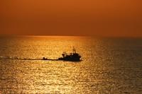 Fishing boat at sunset, Eftalou
