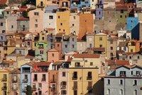 Colurful houses of Bosa