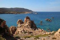 Overlooking the sea near Isola Rossa