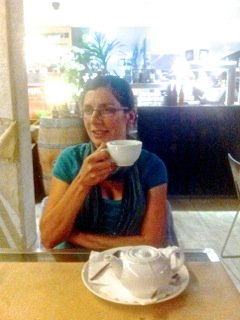 Grandma drinking her tea
