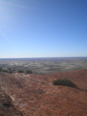 On top Uluru