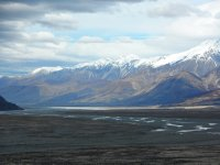 Looking back towards Lake Pukaki from Tasman Glacier