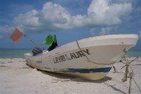 Boat on Holbox Island