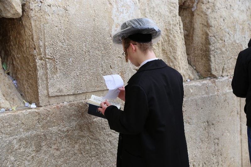 Praying at the Western Wall, Jerusalem