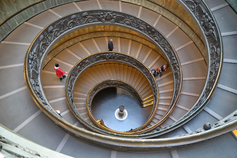 Spiral Stairs of the Vatican Museums