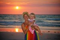 Mum and Cedar sunset at Cable Beach