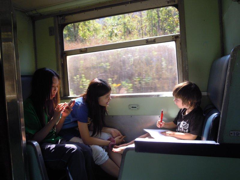 Finn on the train