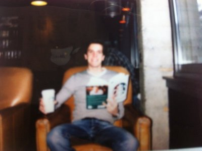 At Starbucks (it's a polaroid photo)