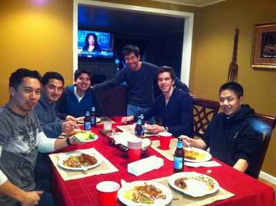 Eating Mexican food and watch Super Bowl!