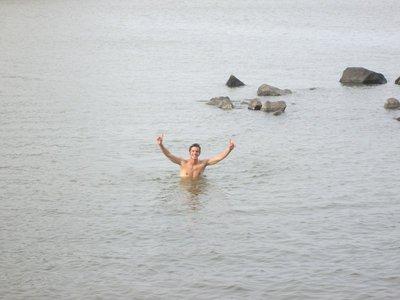 Swimming in lake Nicaragua