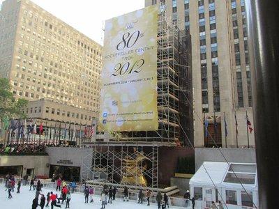 Christbaum vor dem Rockefeller Center