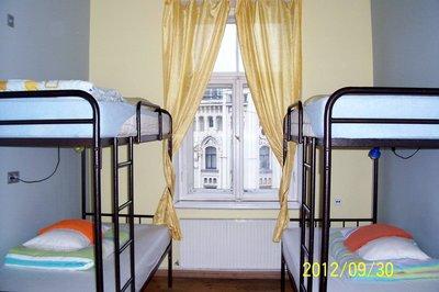 hostel room in Riga