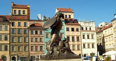 Mermaid in Warsaw Poland