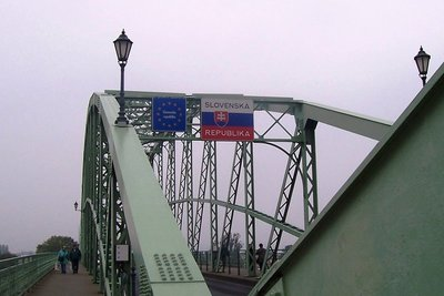 Bridge over Danube joins Slovakia with Hungary