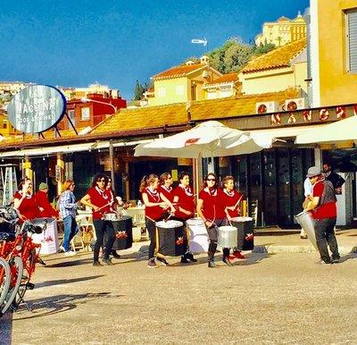 Drum Band on the Beach Malaga Spain