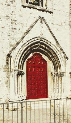 Doorway at Carmo Convent Lisbon Portgal