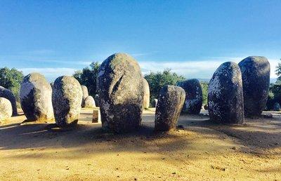 Ancient Standing Stone Circle Near Evora Portugal