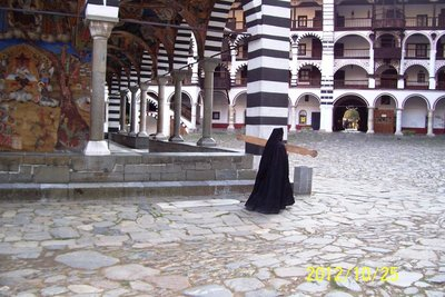 Monk at Rila Monastery
