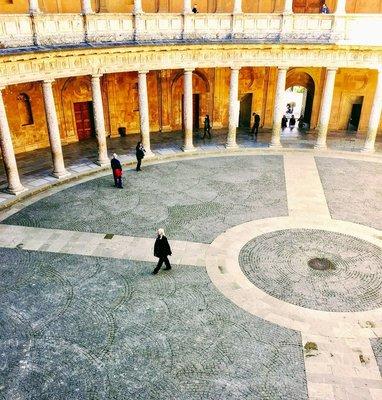 Central Courtyard of Carlos V Palace, Alahambra, Granada