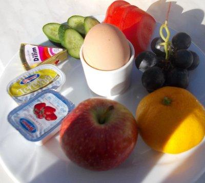 typical breakfast at Efes Antik
