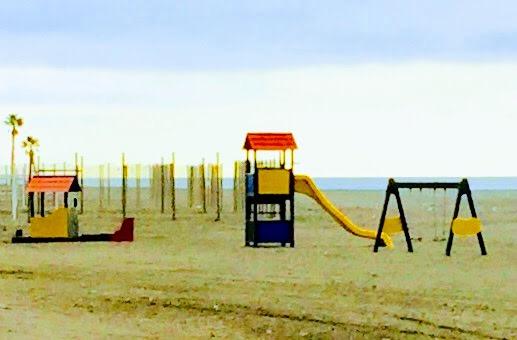 Playground on Mediterranean Malaga Spain