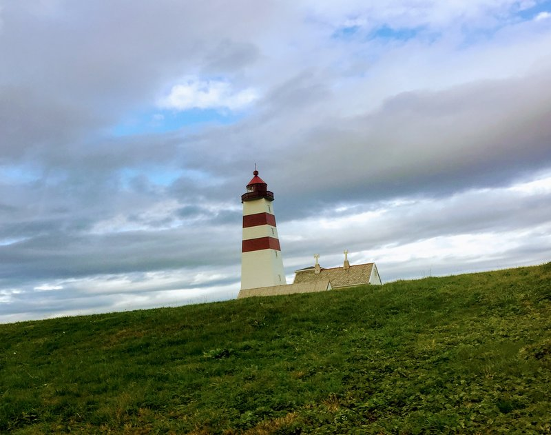 Alnes Lighthouse on the Wild West Coast of Godoya Island Near Alesund Norway - birthplace of my great grandfather