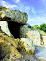 Entrance to Menga Dolmen Antequera Spain