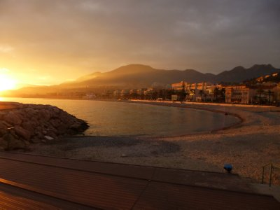 Menton: Sunset on the Waterfront