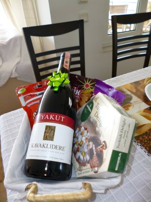 Gift basket from villa's owner