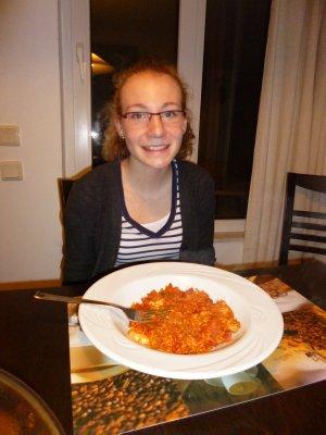 Abby Eating Her Homework